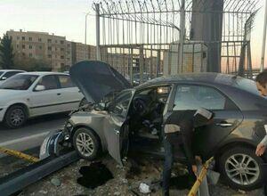 تصادف مرگبار در اتوبان تهران ـ کرج + تصاویر