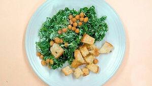 سالاد سزار برای گیاه خواران+ دستور تهیه