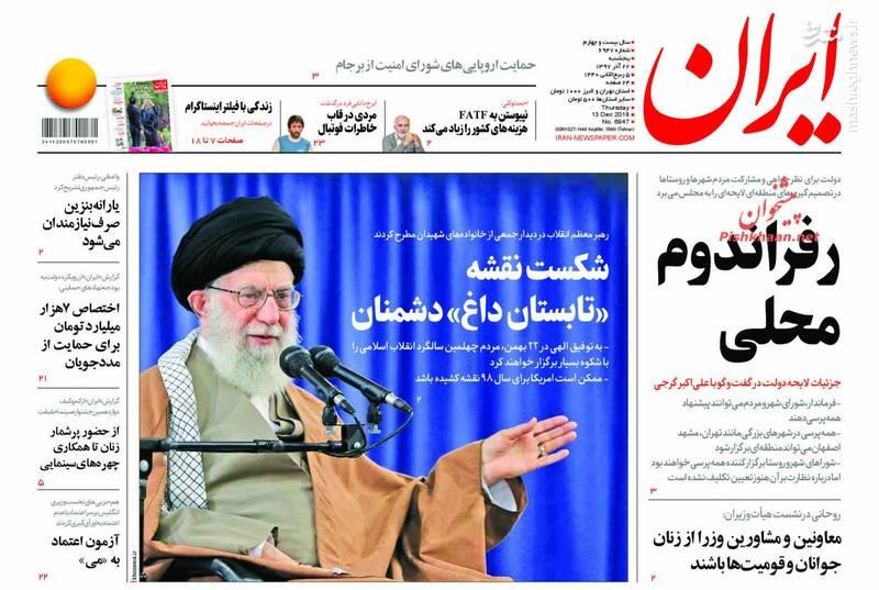 ایران: رفراندوم محلی