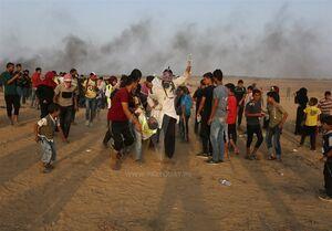 """فیلم/ زخمی شدن خبرنگار """"العالم"""" در غزه"""