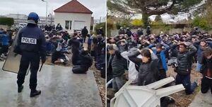 فیلم/ شیوه اعتراض جلیقه زردها به دستگیری دانش آموزان