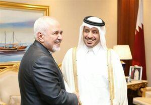 ظریف با نخستوزیر قطر دیدار کرد +عکس