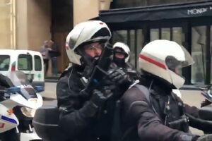فیلم/ گروه موتوری پلیس ضدشورش فرانسه