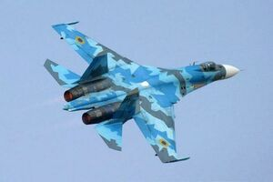 سوخو 27 اوکراینی سقوط کرد