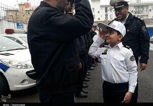 کودک عشق پلیس سرطانی درگذشت +عکس