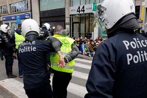 پلیس بروکسل ۵۰ معترض را دستگیر کرد