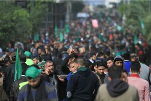 فیلم/ استقبال از مراسم سالگرد تاسیس حماس در غزه