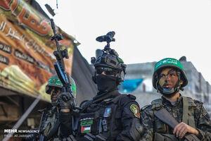 رژه نظامی مقاومت فلسطین در نوار غزه