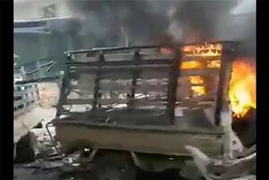 """فیلم/ انفجار خودروی بمبگذاری شده در""""عفرین"""""""