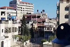 فیلم/ لحظه انفجار خانه مادر شهید فلسطینی
