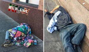 بوی تند ادرار بیخانمانها در حوالی میدان برابری و اتحاد +عکس
