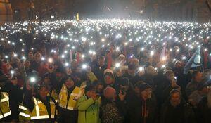 عکس/ تظاهرات ضد دولتی هزاران نفر در مجارستان