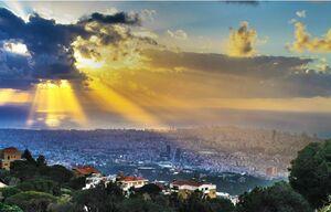 منظره ای از شهر بیروت