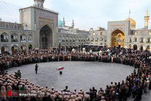 """تشییع پیکر سردار """"منصوری"""" در مشهدمقدس"""