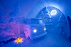 عکس/ هتل شگفتانگیز یخی در سوئد
