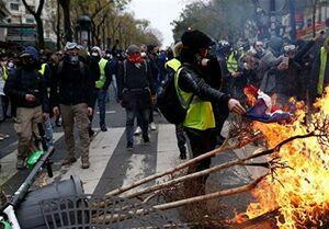 اعتراضات جلیقه زردها ۲.۲۷ میلیارد دلار به فروشگاههای بزرگ فرانسه زیان وارد کرد