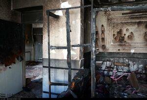 عکس/ آتش سوزی مدرسه ابتدایی در زاهدان