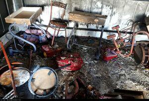 آتش سوزی یک واحد آموزشی غیرانتفاعی در زاهدان