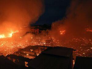 آتشی که 600خانه را خاکستر کرد