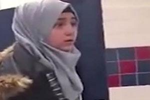 فیلم/ ضرب و شتم دختر مسلمان در آمریکا