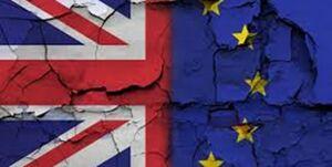 پرچم نمایه اتحادیه اروپا و انگلیس