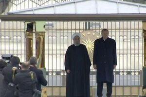 فیلم/ استقبال رسمی اردوغان از روحانی