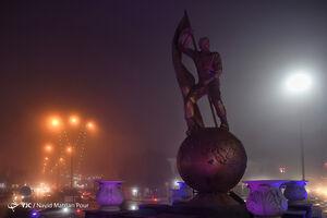 عکس/ مه گرفتگی شدید اهواز