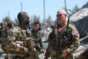عکس/ نظامیان اشغالگر آمریکایی در سوریه