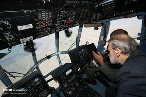 عکس/ بازدید هوایی لاریجانی از سواحل خلیج فارس