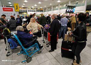 عکس/ توقف پروازها در فرودگاه انگلیس
