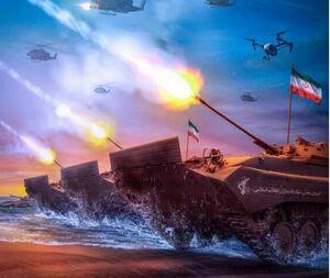 پوستر/ اولین رزمایش تهاجمی سپاه در خلیج فارس