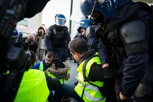 عکس/ شورش جلیقه زردها در پایتخت پرتغال