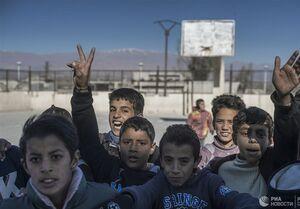هدایای باشگاه اسپارتاک مسکو به کودکان روستایی در سوریه