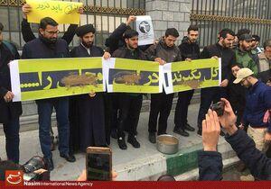 عکس/ تجمع دانشجویان در اعتراض به نماینده سراوان