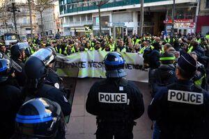 آغار ششمین هفته تظاهرات جلیقه زردها در فرانسه