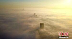 عکس/ جیانگسو غرق در مه