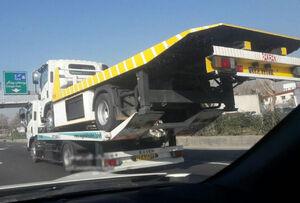 عکس/ حمل کامیون با کامیون!
