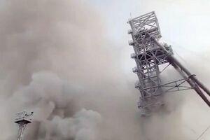 آتش سوزی در معدنی در روسیه