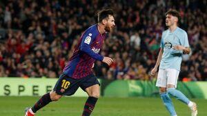 پیروزی بارسلونا در شب درخشش مسی
