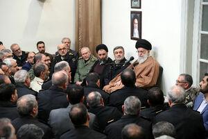 دیدار جمعی از فرماندهان و مسئولان نیروی انتظامی با رهبر انقلاب