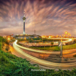 عکس/ نمایی زیبا از برج میلاد تهران