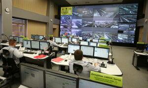 عکس/ اتاق مرکز کنترل ترافیک مسکو