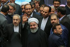 عکس/ حضور روحانی در مجلس