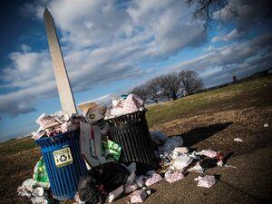 عکس/ بوی زباله کاخ سفید را فرا گرفت