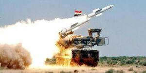 مقابله دفاع هوایی سوریه با اهداف متجاوز در آسمان دمشق