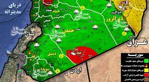 جزئیات درگیری ۲۵ دقیقهای پدافند هوایی ارتش سوریه و جنگندههای اسرائیلی از غرب دمشق تا جنوب لبنان+ نقشه میدانی