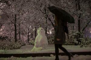بارش برف در آنکارا