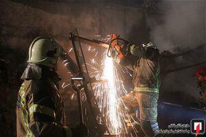 آتش سوزی انبار پلاستیک در خلازیل