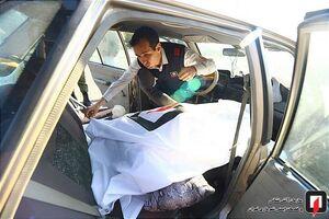 عکس/ قاتل نامرئی جان مرد میانسال را در خودرو گرفت