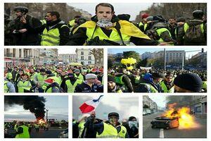درگیری شدید در پاریس/معترضان: «ماکرون استعفا بده»
